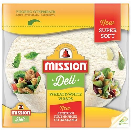 Mission Пшеничные лепешки со злаками Wheat&White 250г