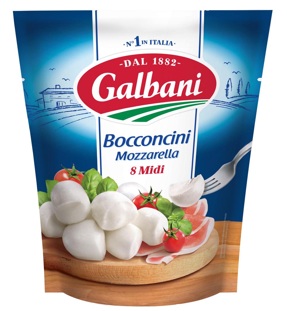 БЗМЖ Сыр Моцарелла Боккончини 45% Galbani
