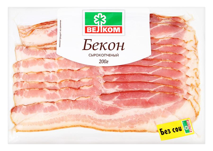 Велком Бекон с/к нарезка Велком