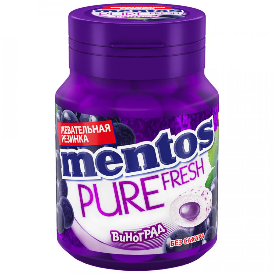 Жевательная резинка Mentos Pure Fresh Виноград 54г
