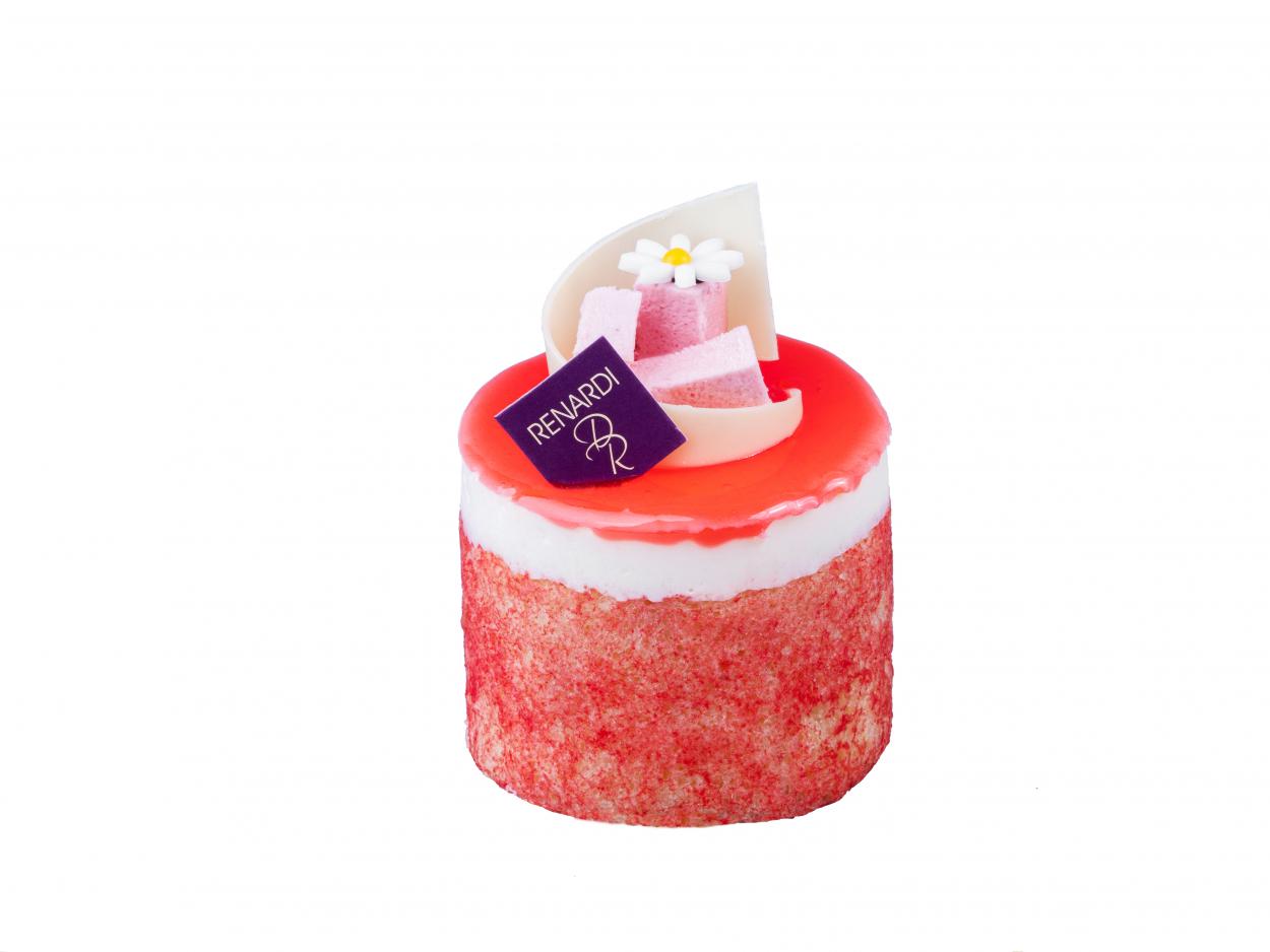Пирожное Йогуртово-клубничное RENARDI