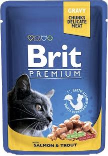 Brit Корм для кошек лосось/форель Brit Premium