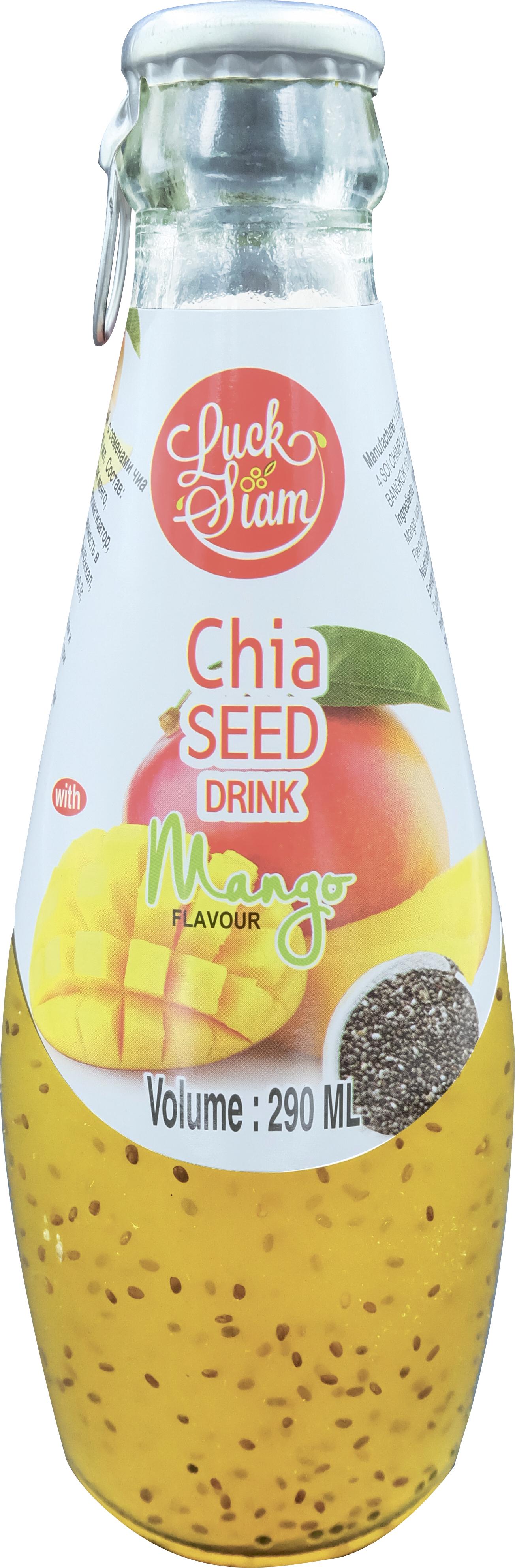 БЕЗ БРЭНДА Напиток безалкогольный негазированный семена чиа/вкус манго Luck Siam без брэнда семена чиа polezzno