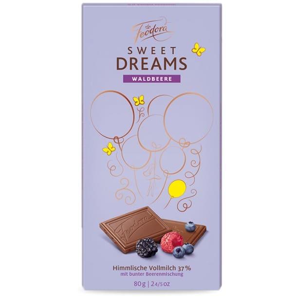 Шоколад молочный c цельным молоком/лесными ягодами Feodora
