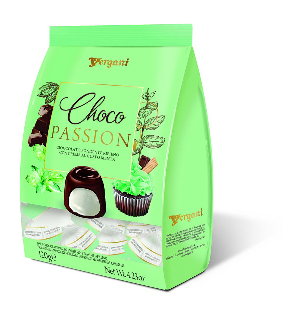 Конфеты из темный шоколада с ментоловой начинкой Secondo Vergani Spa