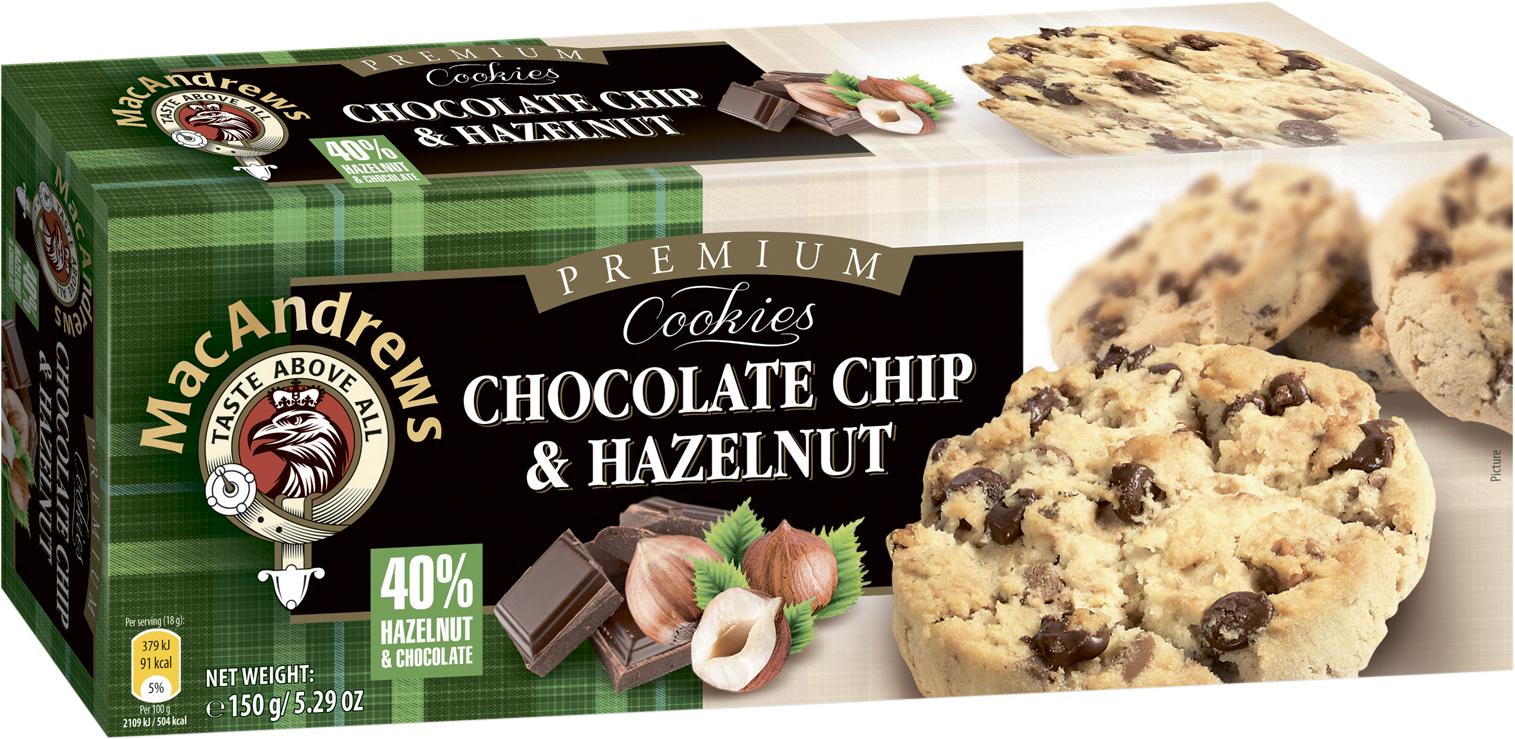 Печенье с кусочками шоколада и фундука MacAndrew