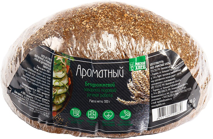 Хлеб Хлеб ржано-пшеничный Ароматный Рижский хлеб хлеб рижский хлеб цельнозерновой 300 г