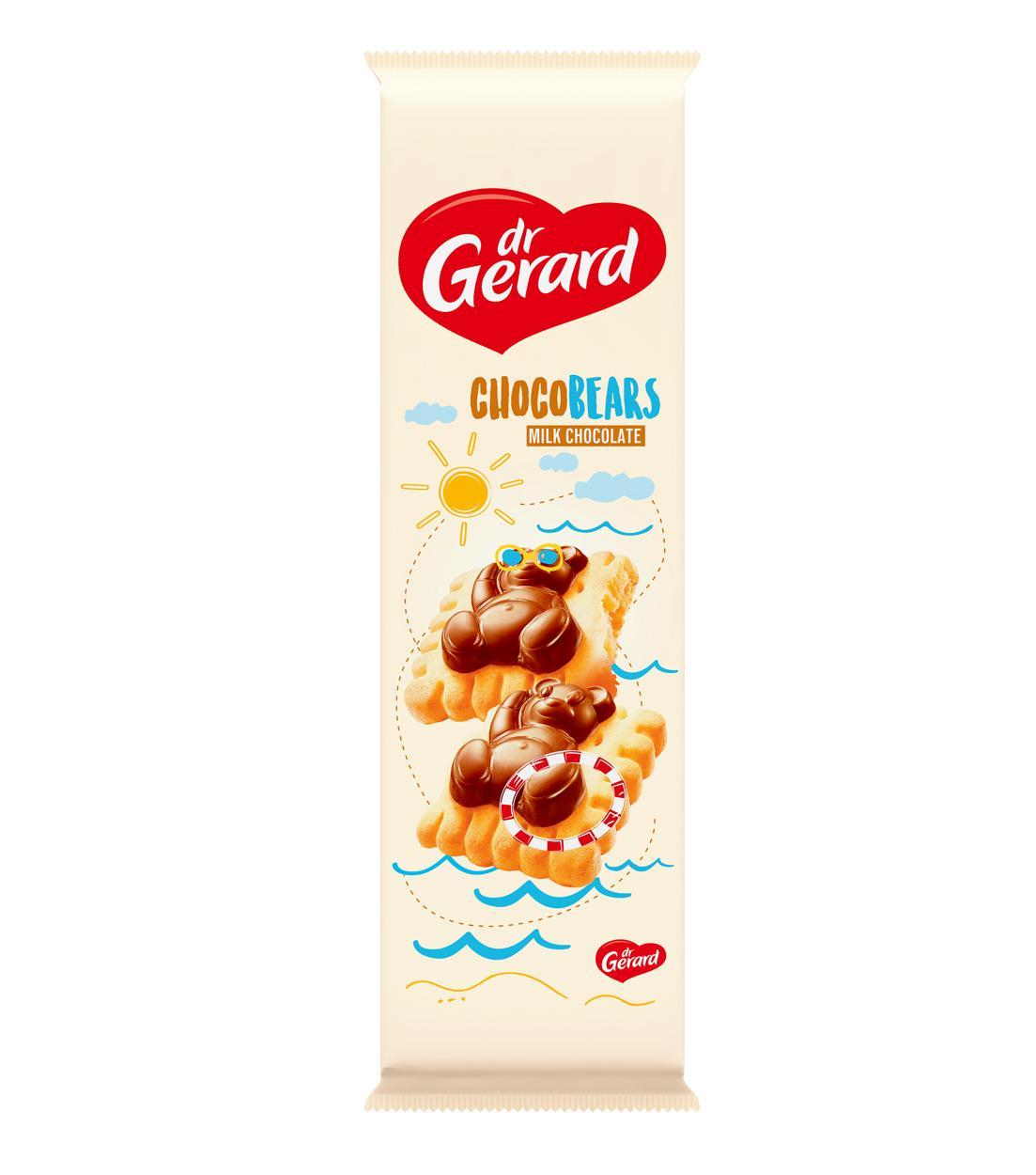 Печенье с кремовой начинкой и молочным шоколадом Шоколадные мишки Dr Gerard