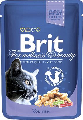 Brit Корм для кошек треска Brit Premium