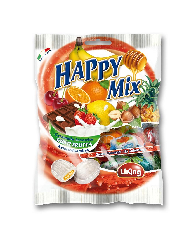 Конфеты мягкие ириски фруктовый микс Liking