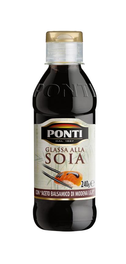Понти Топпинг соевый Glassa alla soia на основе бальзамического уксуса Модены Ponti ponti