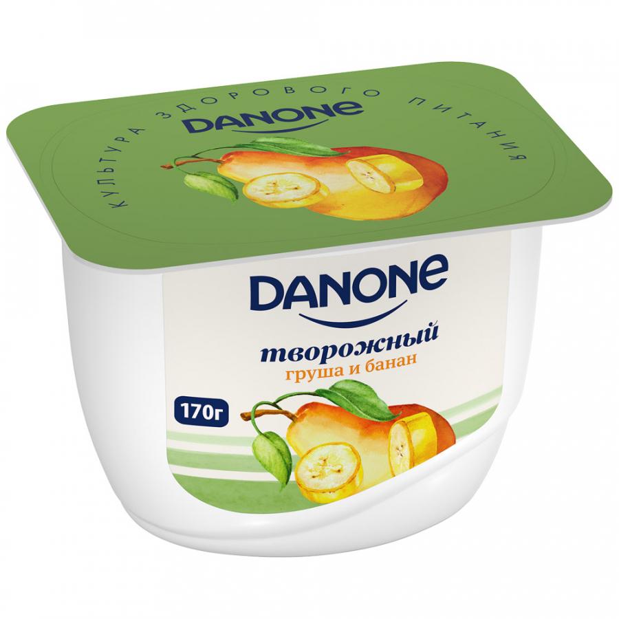 творог danone натуральный 5% 170 г Danone БЗМЖ Продукт творожный с грушей и бананом 3.6% 170 г Danone
