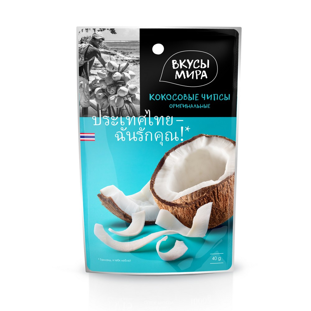 Чипсы кокосовые оригинальные Вкусы Мира