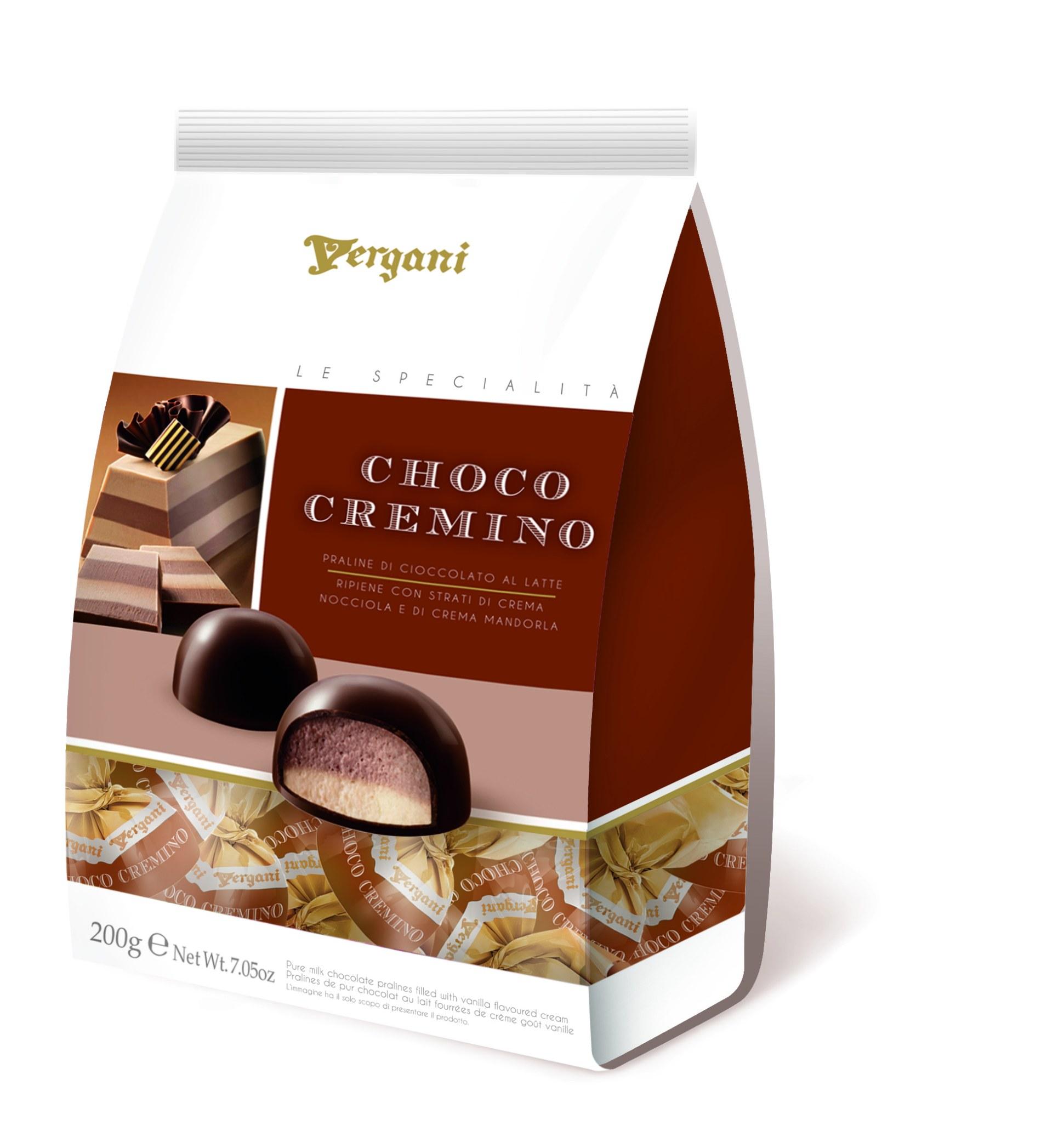 Конфеты шоколадные c фундуком и миндальным кремом Secondo Vergani Spa