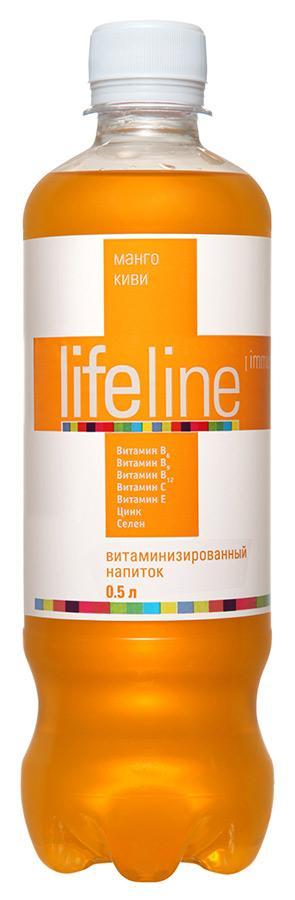 Напиток со вкусом манго и киви 0.5 л Lifeline Immunity