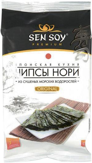 Чипсы-Нори из морских водорослей Оригинальные Sen Soy
