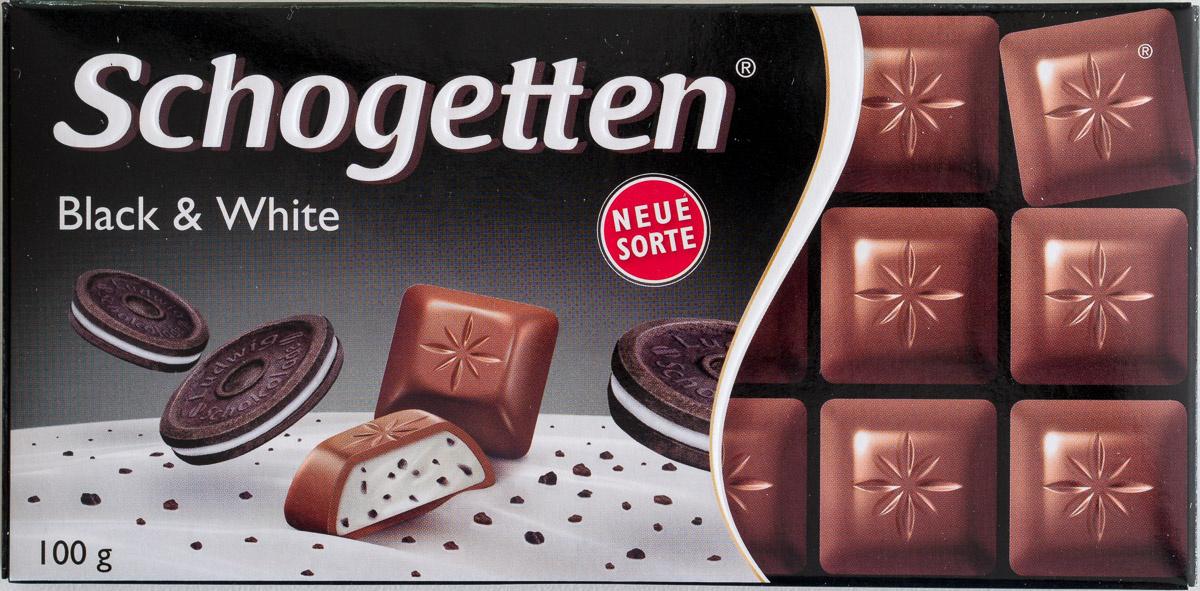 Шоколад молочный ванильный крем/печенье с какао Schogetten