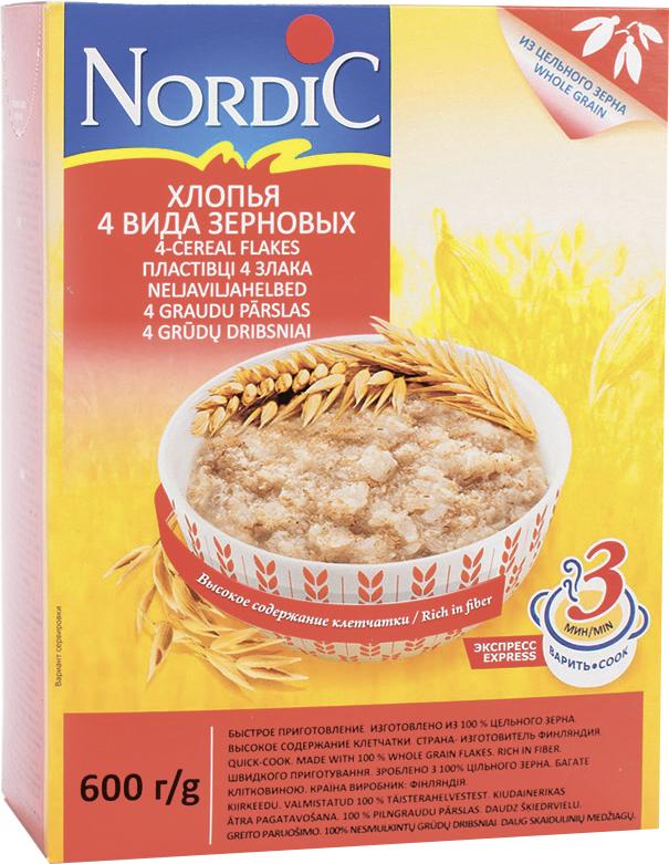 Нордик Хлопья Nordic 4х зерновые NORDIC