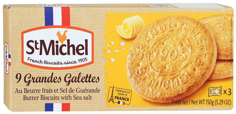 Печенье сливочное с морской солью StMichel