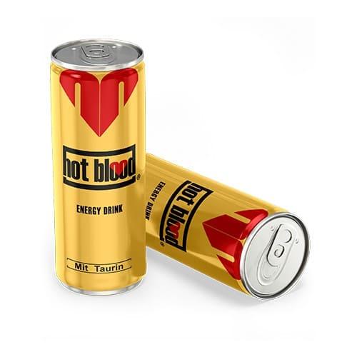 Напиток Hot blood энергетический безалкогольный газированный с таурином