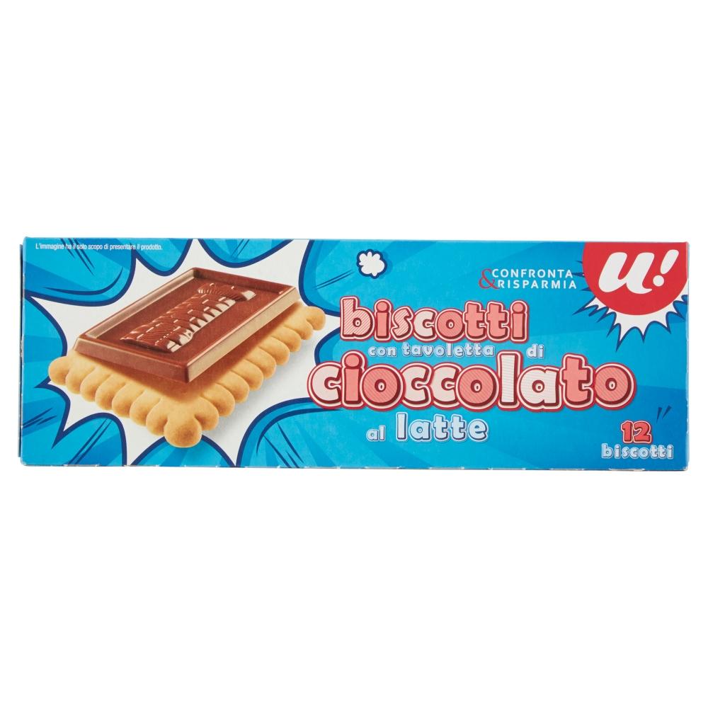 Печенье с плиткой молочного шоколада U!