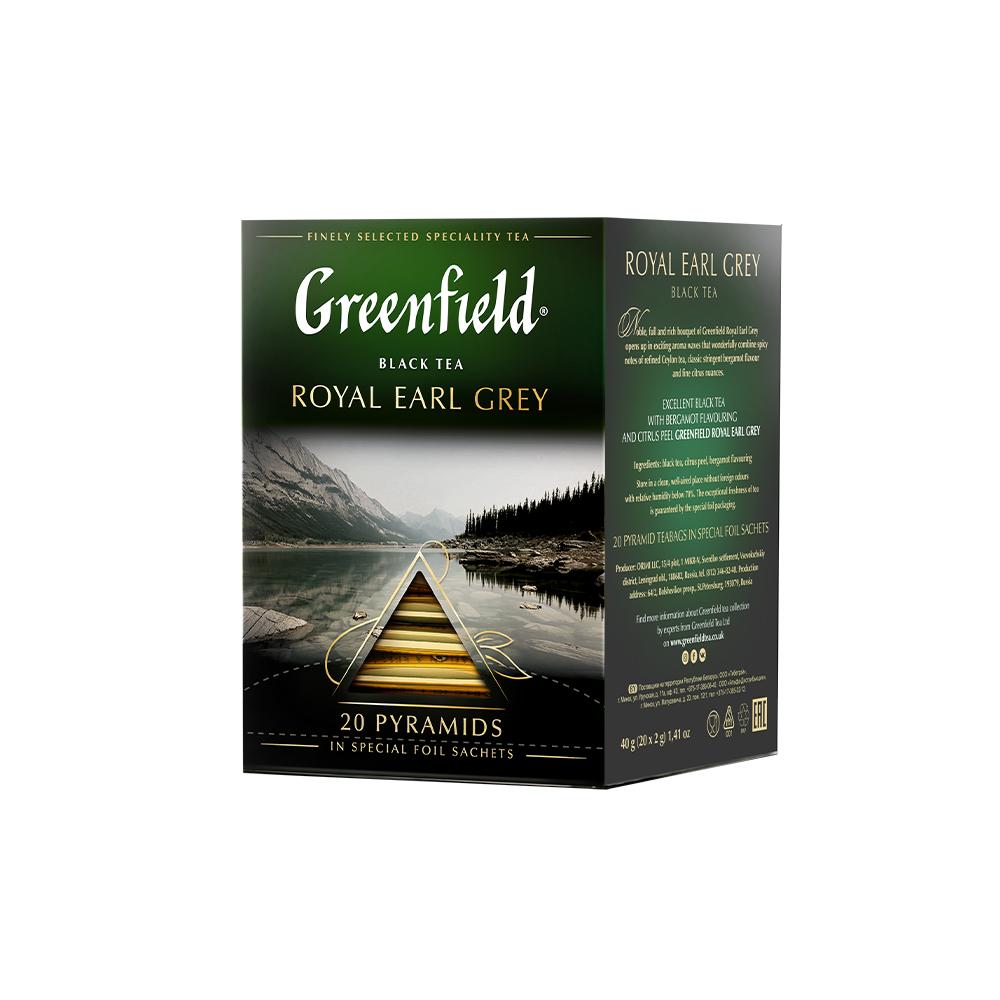 Гринфилд Чай роял эрл грей 20 пирамидок Greenfield