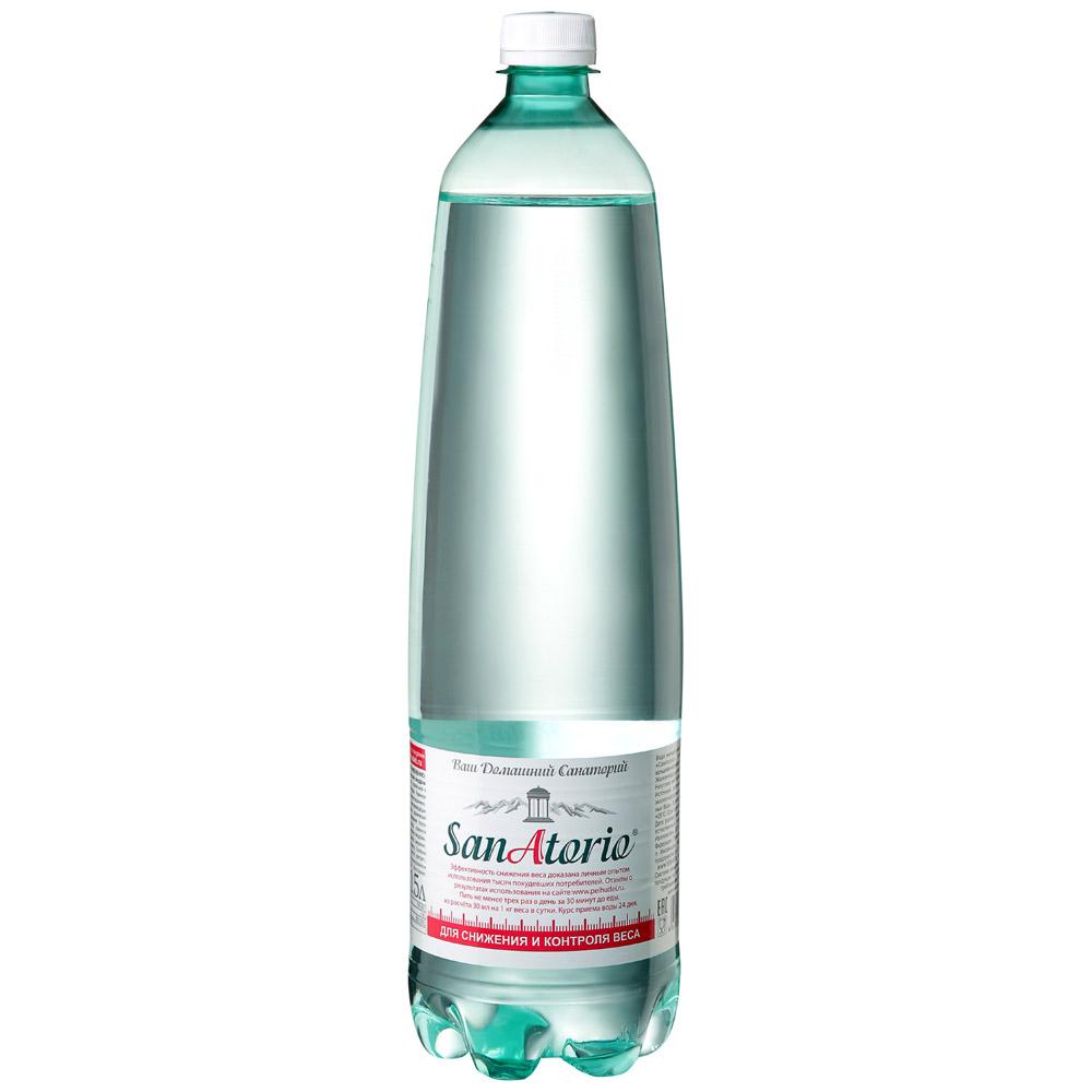 Санаторио Вода минеральная газированная лечебно-столовая СанАторио вода минеральная природная питьевая лечебно столовая липецкая газированная стекло 12 шт по 0 5 л