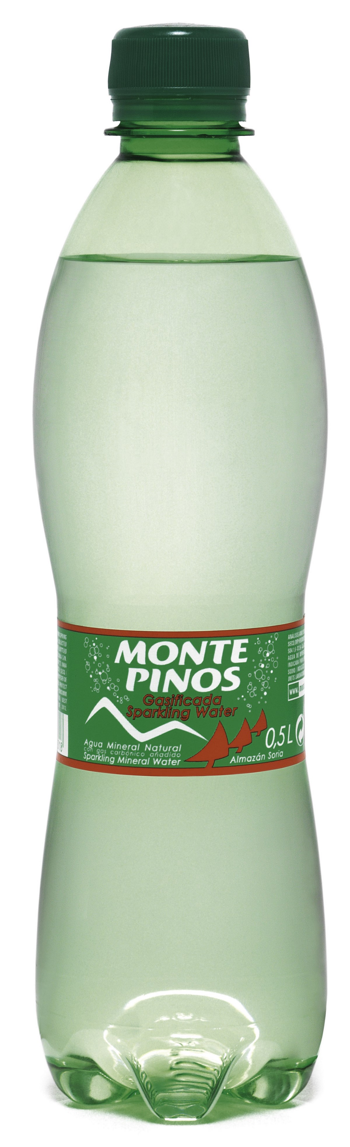 Вода природная газированная минеральная Monte Pinos 0.5 л.