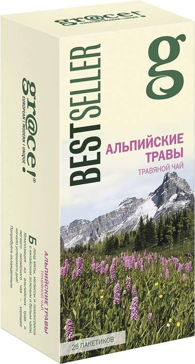Грейс Чай Альпийские травы 25 пакетиков gr@ce! недорого