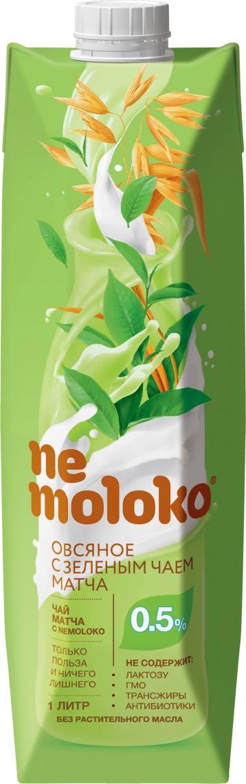 Напиток Nemoloko овсяный с зелёным чаем матча 1л