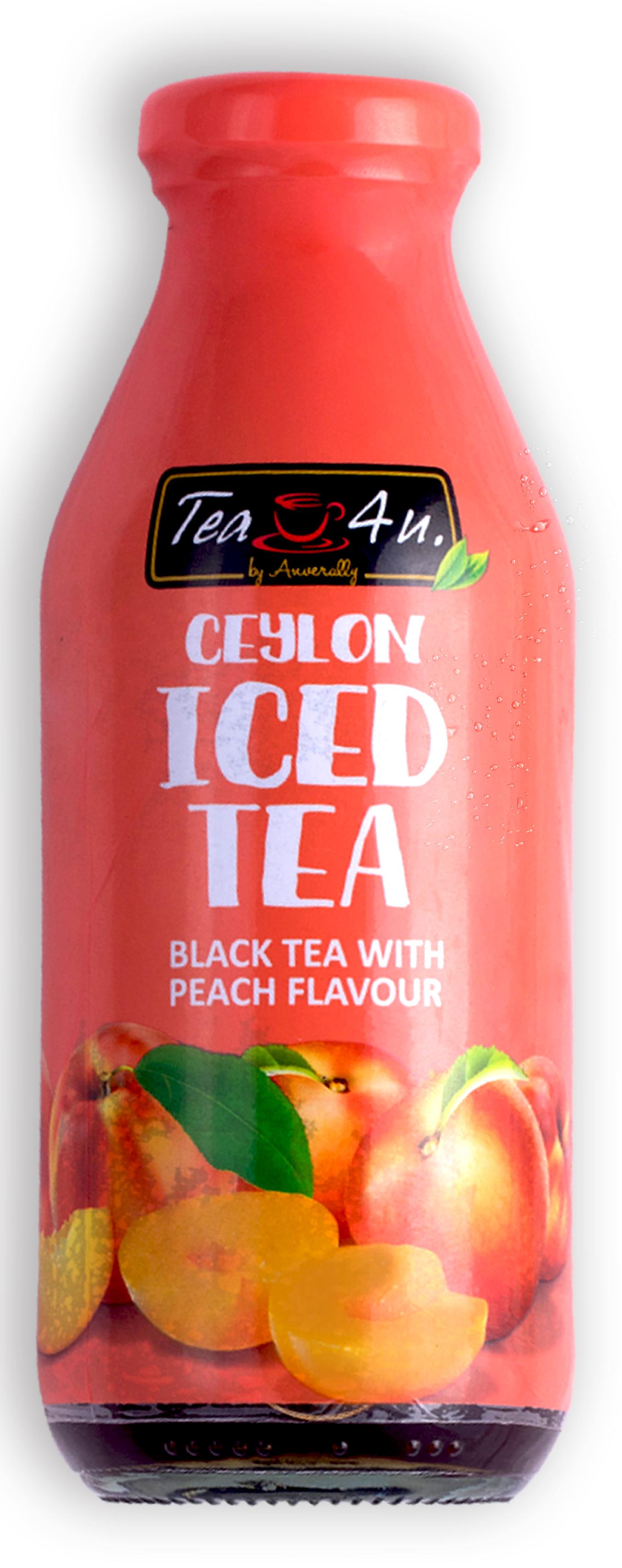 Напиток безалкогольный негазированный Черный чай со вкусом персика Tea 4 u