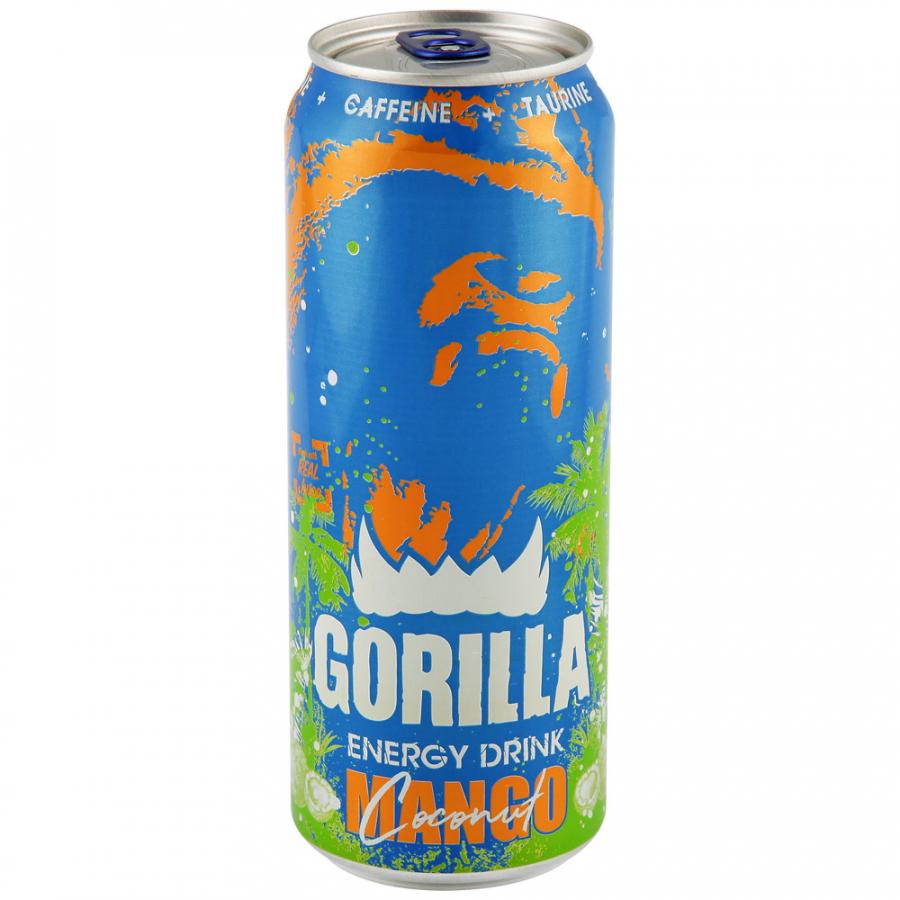 Фото - Gorilla Напиток Энергетический 0.45 л Gorilla Mango Coconut энергетический напиток solar power 0 45 л 6 шт