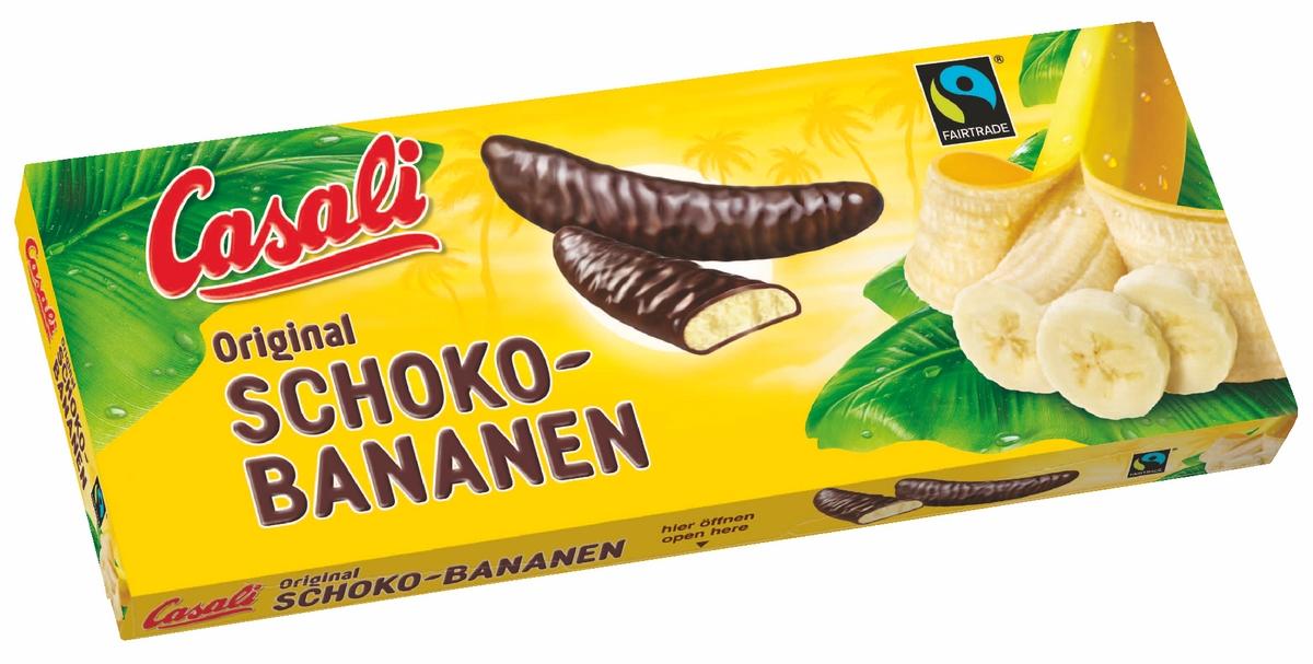 Суфле банановое в шоколаде Schoko-Bananen Casali 0.14 л.