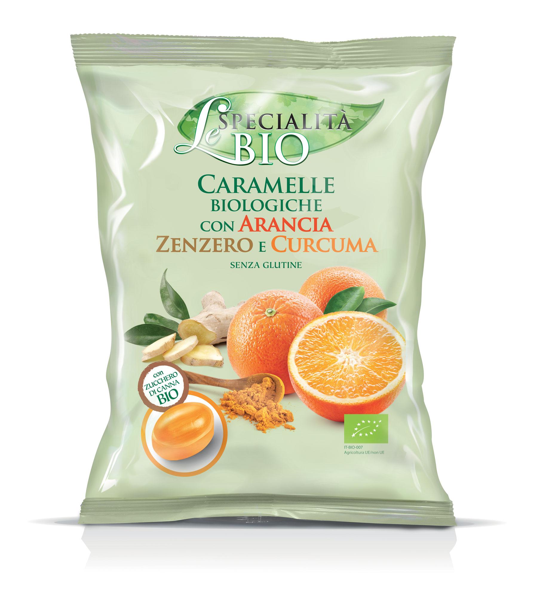 Конфеты Le Specialita Bio с апельсином имбирем и куркума