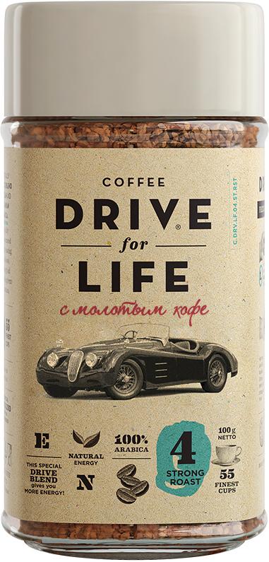 БЕЗ БРЭНДА Кофе растворимый сублимированный c молотым Strong Drive for life