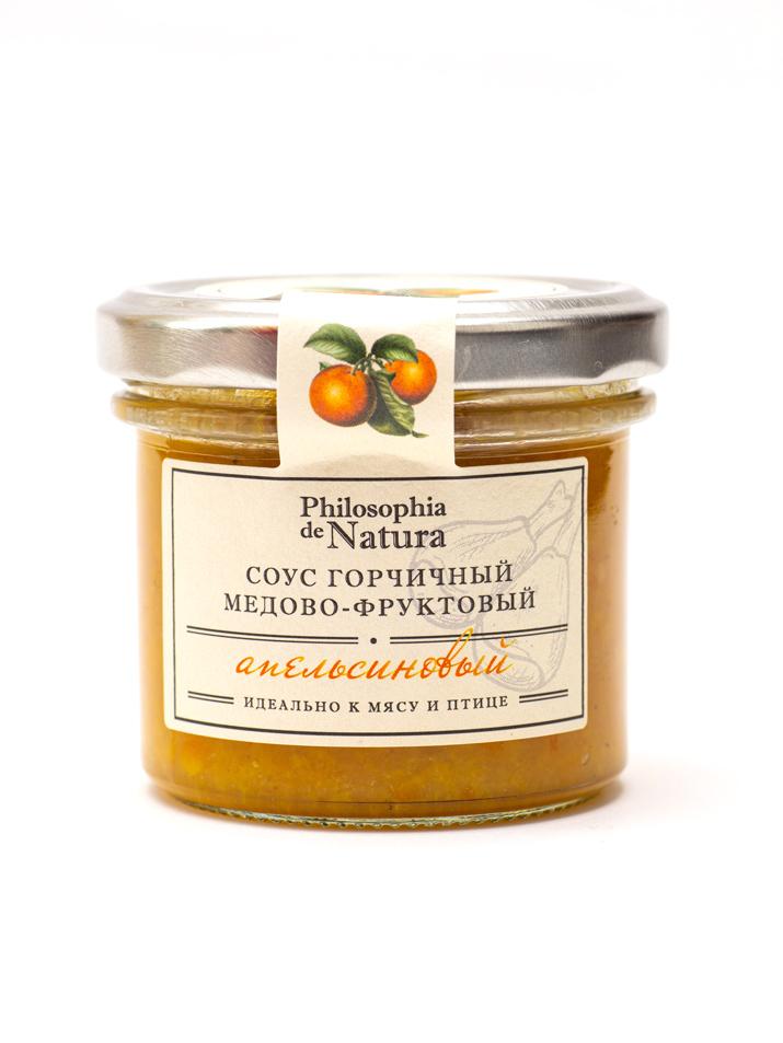 Фото - Philosophia de Natura Соус горчичный медово-фруктовый Апельсин 100г Philosophia de Natura соус балтимор майонезно горчичный 200 г