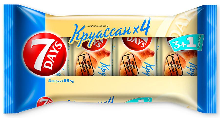 Круассан ваниль 7Days промо 3+1