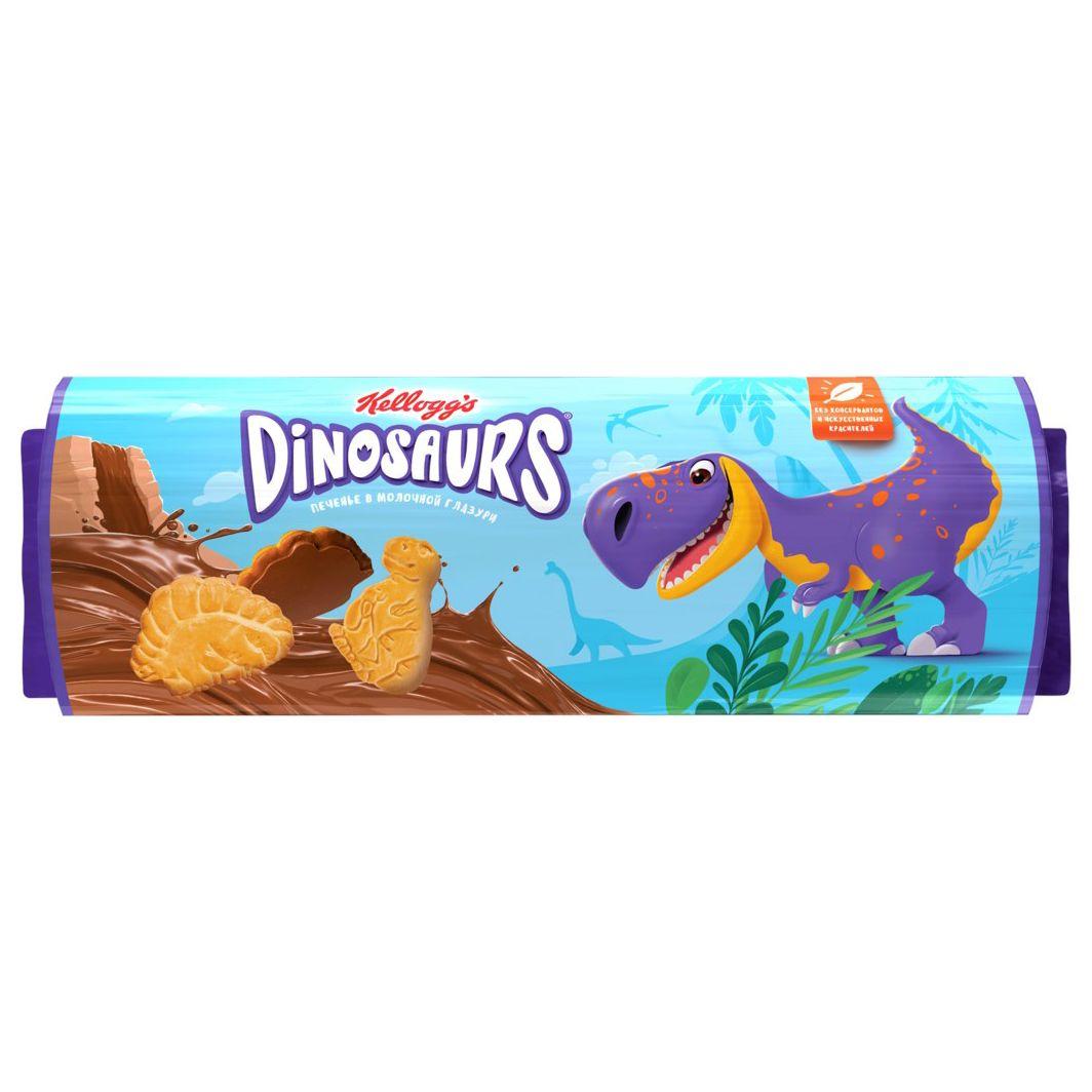 Печенье сахарное в молочной глазури Dinosaurs 191г ТМ Kellogg's