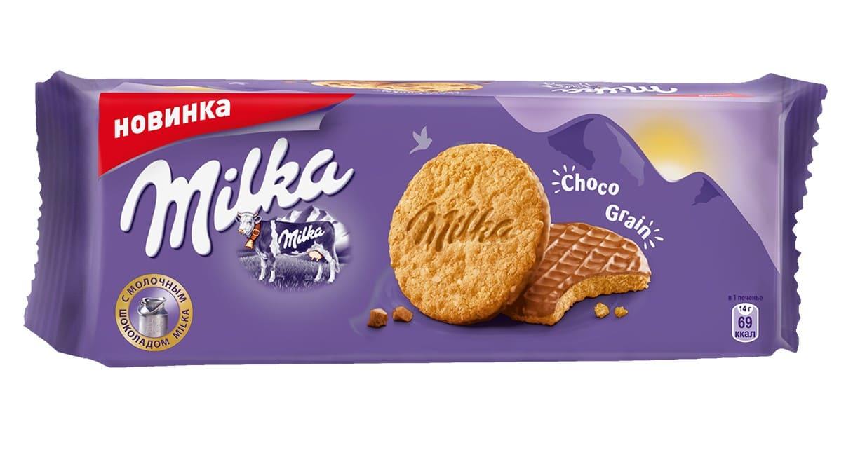 Печенье совсяными хлопьями Милка