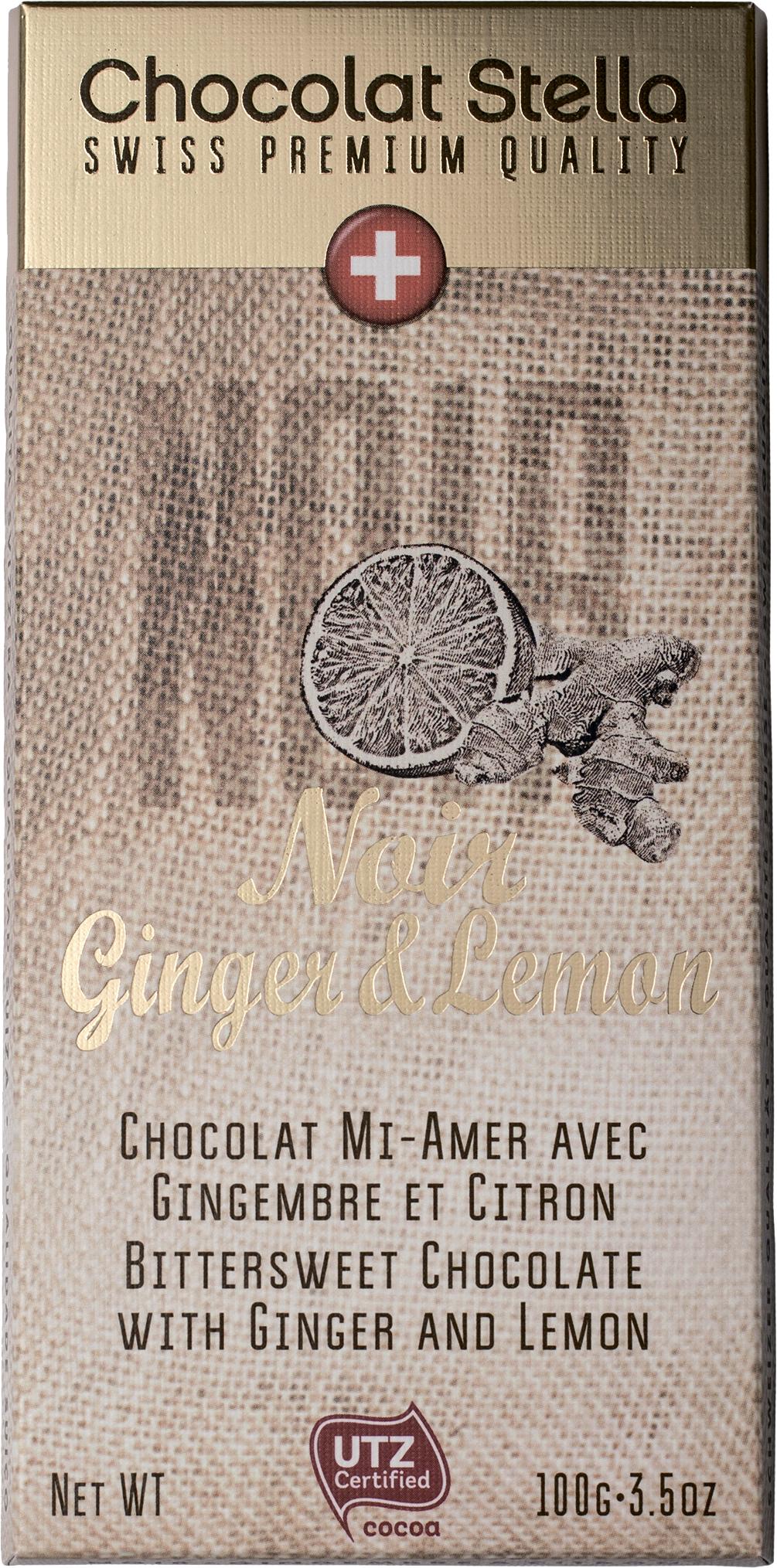 Шоколад горький с имбирем и лимоном Chocolat Stella