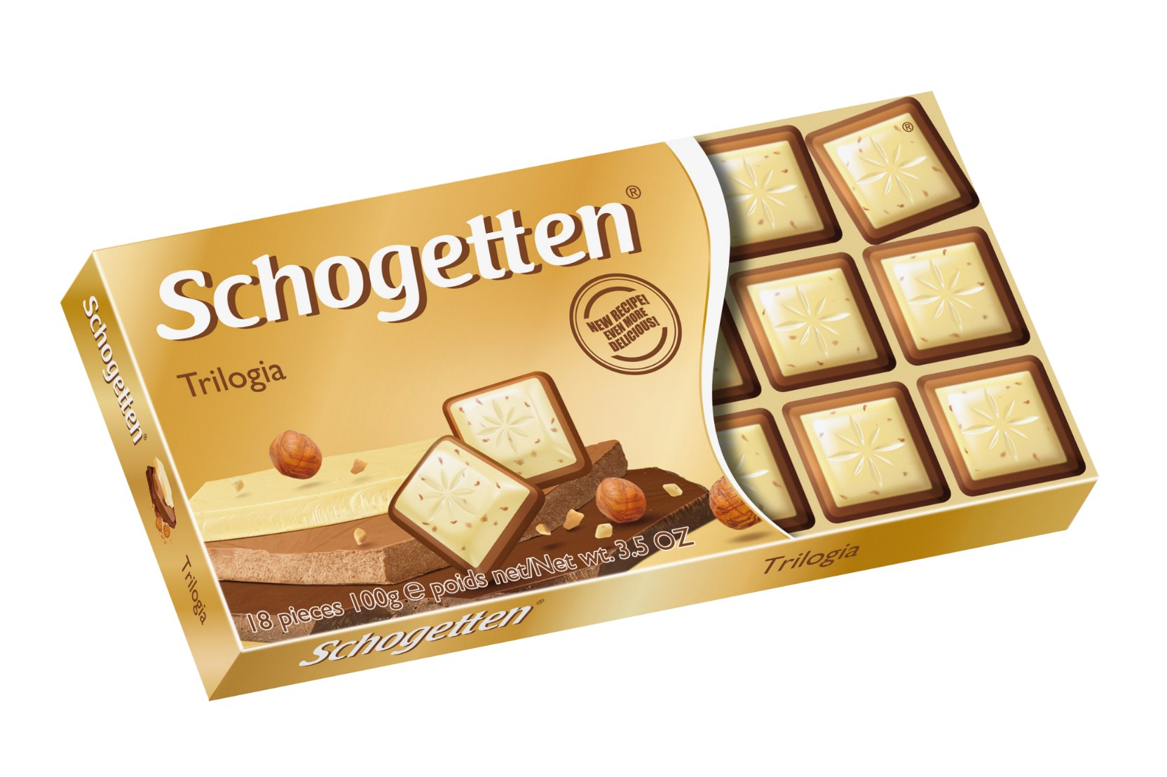 Шоколад белый Альпы молоко/шоколад/орехи  Schogetten