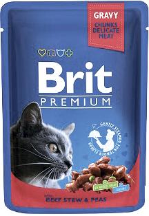 Brit Корм для кошек говядина/горошек Brit Premium