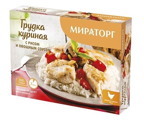 Мираторг Грудка куриная с рисом и овощным соусом