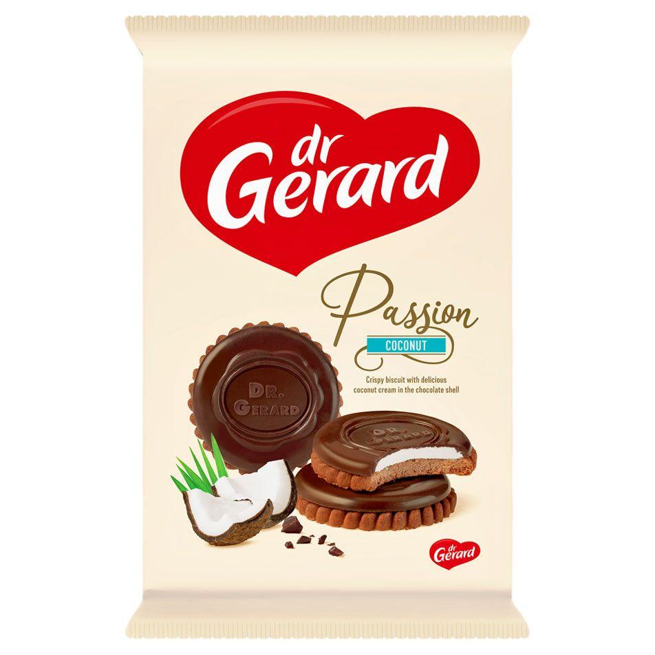 СИ - Печенье с кокосовой начинкой декорированное шоколадом «Пэшшен кокос» 170г Dr Gerard