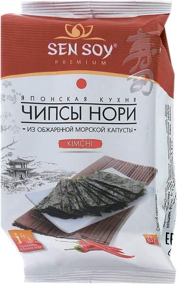 Чипсы Нори из морской капусты Kimchi премиум Sen Soy