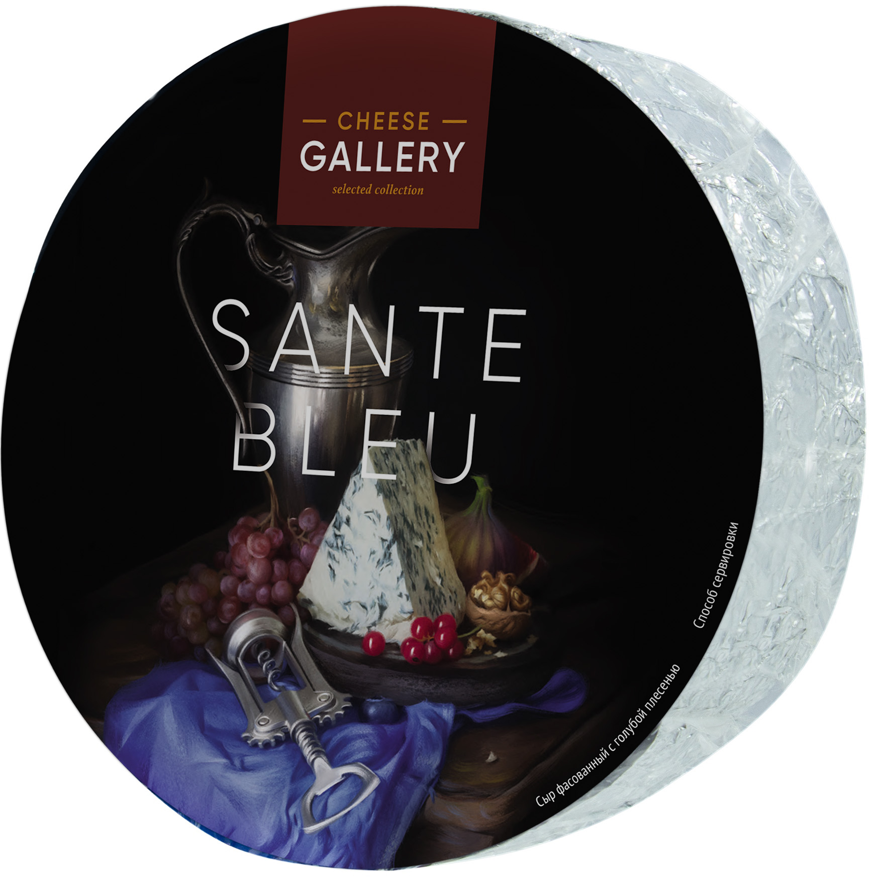 Фото - Чиз Галери Сыр с голубой плесенью Sante Blue 50% Cheese Gallery сыр cheese gallery гауда выдержанный old mill 50% 250 г