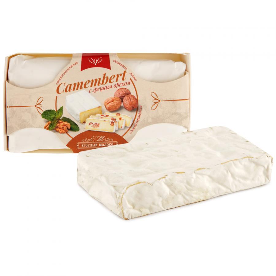 Фото - Егорлык молоко БЗМЖ Сыр с плесенью Камамбер с орехом 50% 125г Егорлык молоко молоко