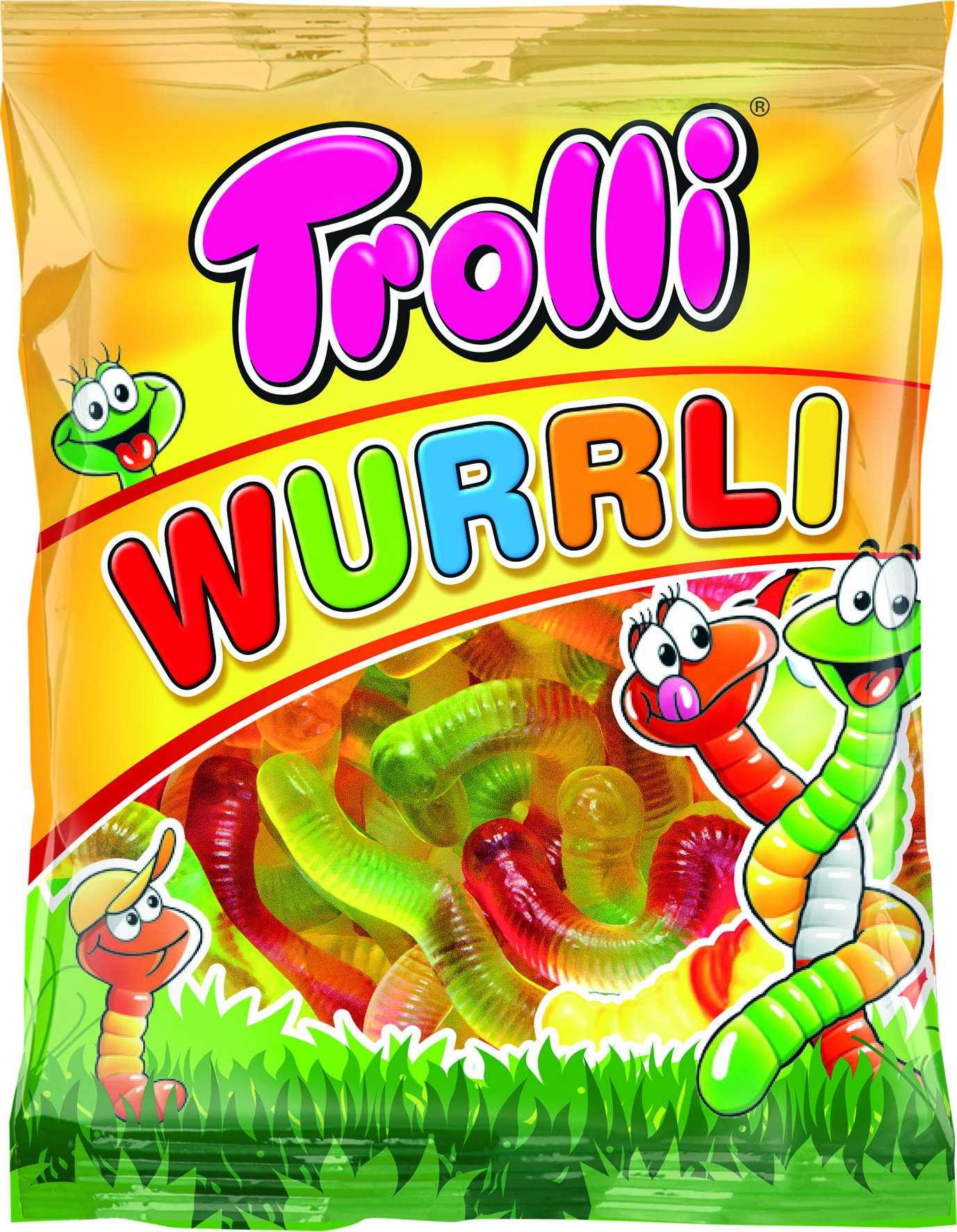 Мармелад жевательный вкус фруктов Червячки Trolli