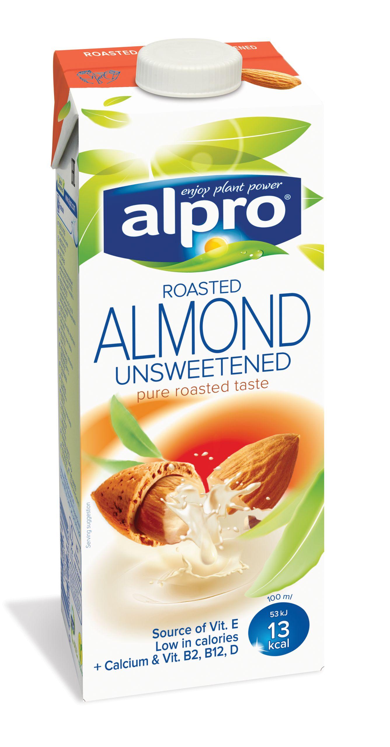 Напиток миндальный без сахара обогащенный кальцием и витаминами Alpro