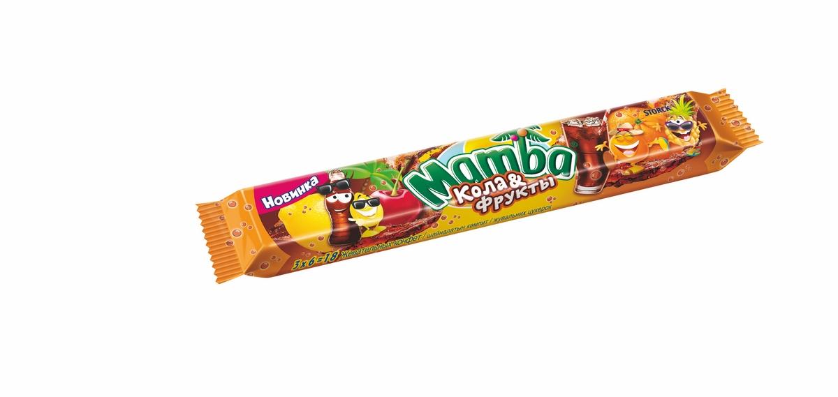Жевательная конфета кола и фрукты Mamba